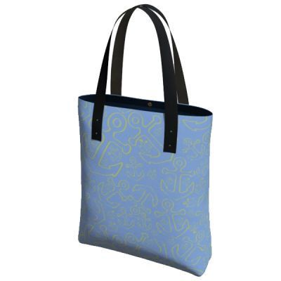 Anchor Dream Tote Bag - Yellow/Blue