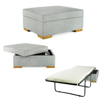 iBED Convertible Ottoman Guest Bed-Grey