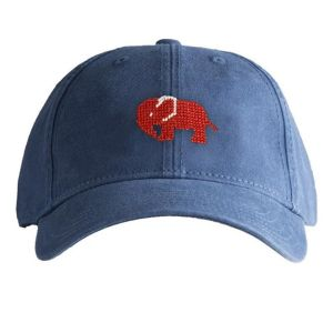 Red Elephant on Navy Blue Hat