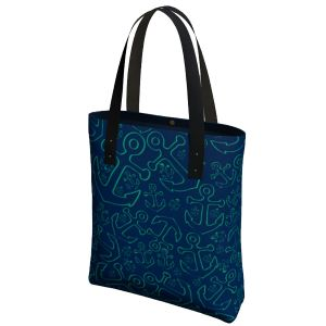 Anchor Dream Tote Bag - Green/Navy
