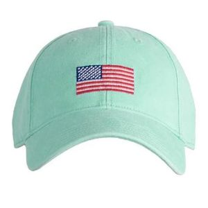 American Flag on Keys Green Hat