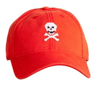 Skull & Bones on Neon Red Hat